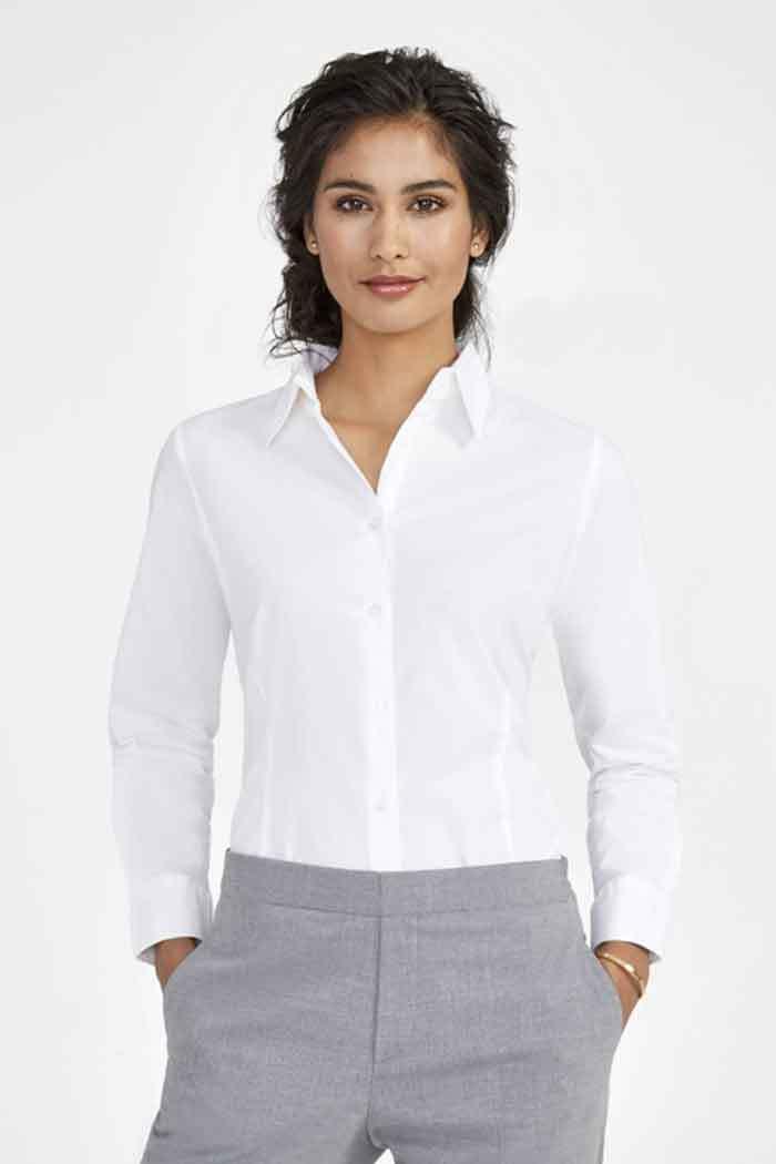 Ladies` Long Sleeved Stretch Shirt Eden