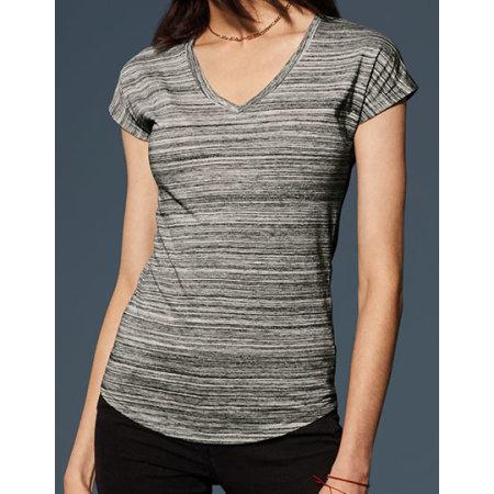 Women`s Tri-Blend V-Neck ID Tee von Anvil (Artnum: A675VIDL