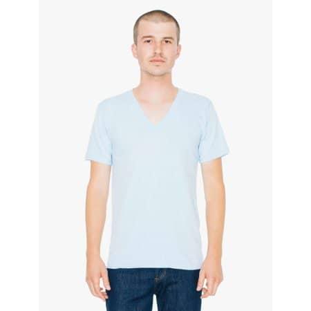 Fine Jersey V-Neck T-Shirt von American Apparel (Artnum: AA2456