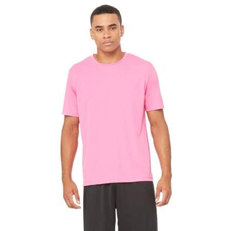 Unisex Performance Short Sleeve Tee in Sport Charity Pink von All Sport (Artnum: ALM1009