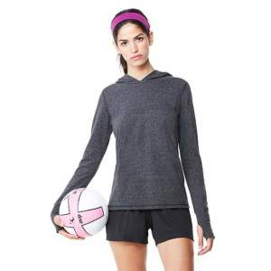 Women`s Performance Triblend Long Sleeve Hooded Pullover With Ru