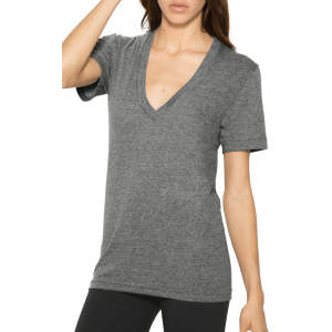 Unisex Tri-Blend Shortsleeve Deep V-Neck T-Shirt
