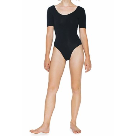 Women`s Jersey Short Sleeve Double U-Neck Bodysuit von American Apparel (Artnum: AM8373