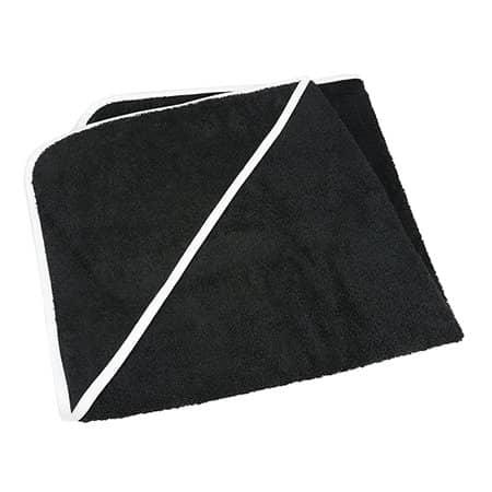Baby Hooded Towel in Black Black White von A&R (Artnum: ARB032