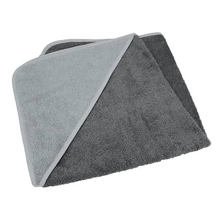 Baby Hooded Towel in Graphite|Anthracite Grey|Anthracite Grey von A&R (Artnum: ARB032