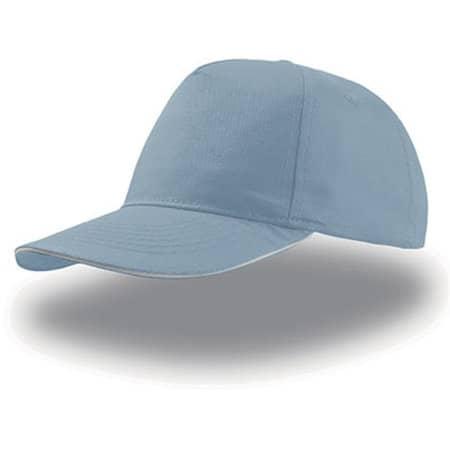 Start Five Sandwich Cap in Light Blue|White von Atlantis (Artnum: AT500