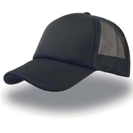Rapper Cap in Black|Black|Black von Atlantis (Artnum: AT505