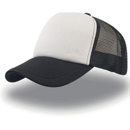 Rapper Cap in White|Black|Black von Atlantis (Artnum: AT505