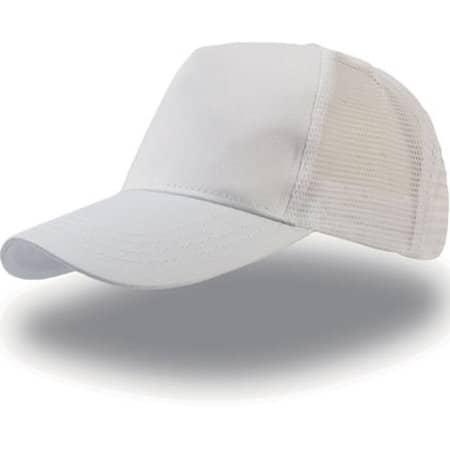 Rapper Cotton Cap in White White von Atlantis (Artnum: AT511