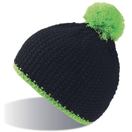 Peak Hat in Black|Green Fluo von Atlantis (Artnum: AT706