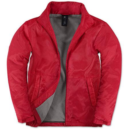 Jacket Multi-Active /Men in Red Warm Grey von B&C (Artnum: BCJM825