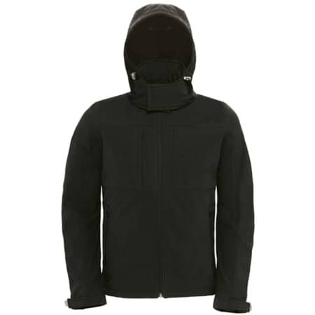 Hooded Softshell / Men in Black von B&C (Artnum: BCJM950