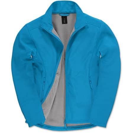 Jacket Softshell ID701 /Men in Atoll|Ghost Grey von B&C (Artnum: BCJUI62