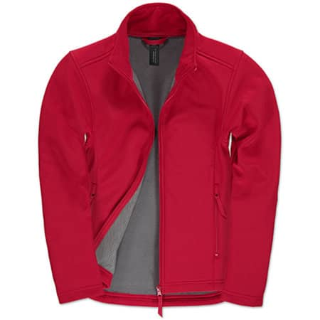 Jacket Softshell ID701 /Women in Red|Warm Grey von B&C (Artnum: BCJWI63