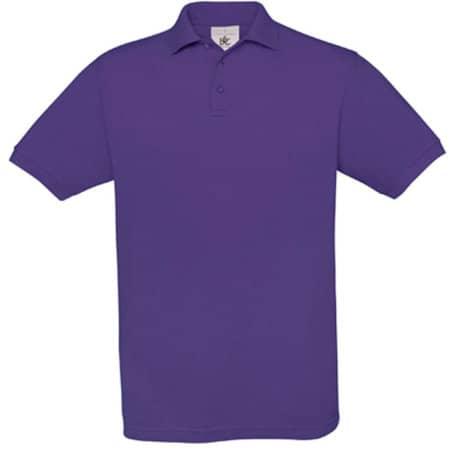 Polo Safran / Unisex in Purple von B&C (Artnum: BCPU409