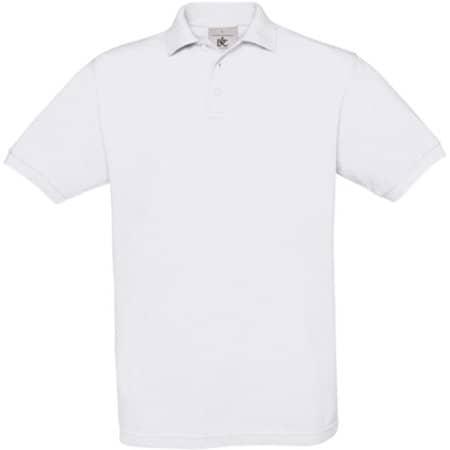 Polo Safran / Unisex in White von B&C (Artnum: BCPU409