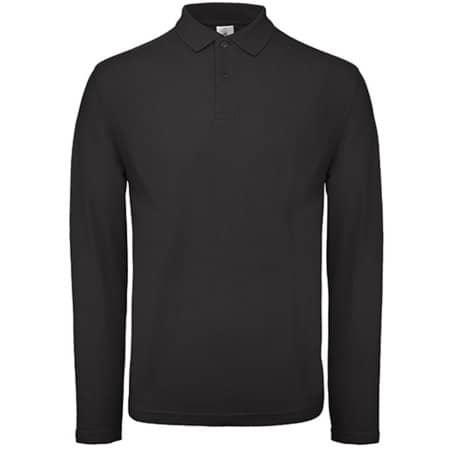 Long Sleeve Polo ID001 / Unisex in Black von B&C (Artnum: BCPUI12