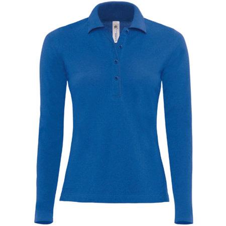 Polo Safran Pure Longsleeve / Women in Royal Blue von B&C (Artnum: BCPW456