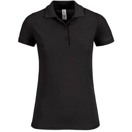 Polo Safran Timeless / Women in Black von B&C (Artnum: BCPW457