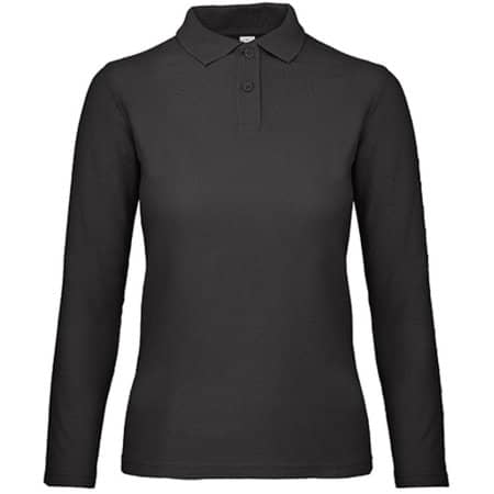 Long Sleeve Polo ID001 / Women in Black von B&C (Artnum: BCPWI13