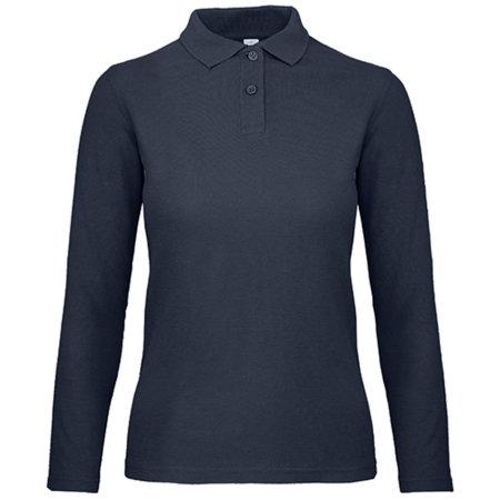 Long Sleeve Polo ID001 / Women in Navy von B&C (Artnum: BCPWI13