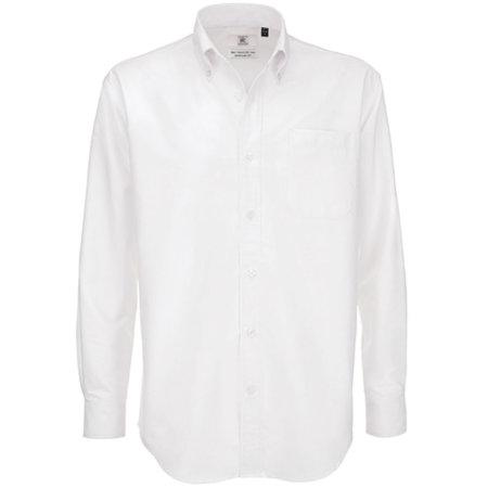 Shirt Oxford Long Sleeve /Men in White von B&C (Artnum: BCSMO01