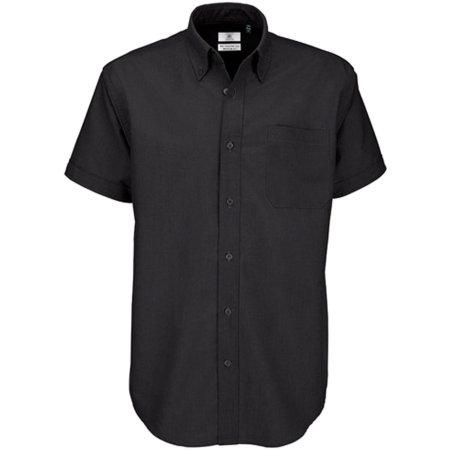 Shirt Oxford Short Sleeve /Men in Black von B&C (Artnum: BCSMO02