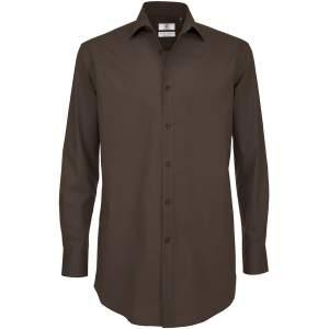 Poplin Shirt Black Tie Long Sleeve / Men