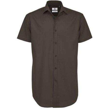 Poplin Shirt Black Tie Short Sleeve / Men von B&C (Artnum: BCSMP22