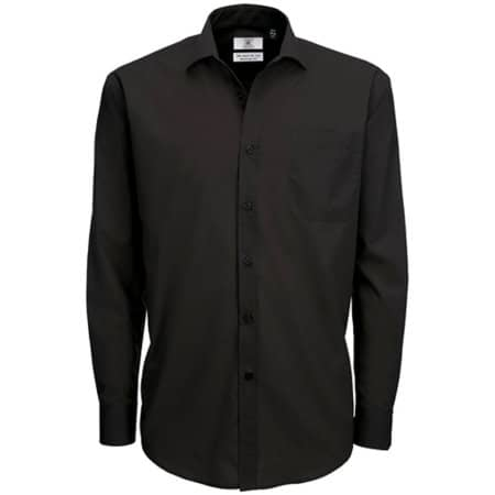 Poplin Shirt Smart Long Sleeve / Men in Black von B&C (Artnum: BCSMP61