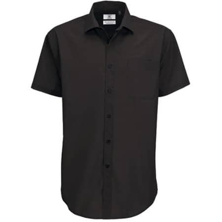 Poplin Shirt Smart Short Sleeve / Men in Black von B&C (Artnum: BCSMP62