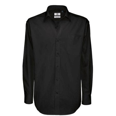 Twill Shirt Sharp Long Sleeve / Men in Black von B&C (Artnum: BCSMT81