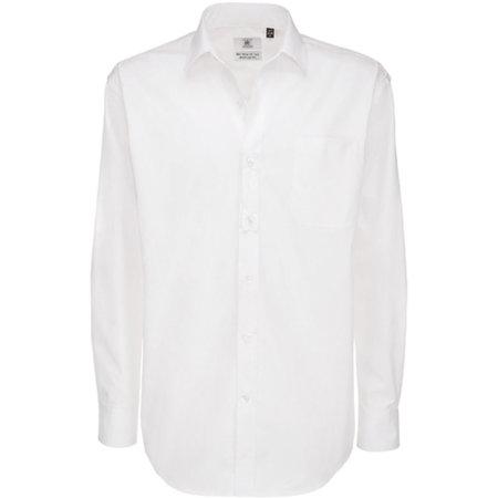 Twill Shirt Sharp Long Sleeve / Men in White von B&C (Artnum: BCSMT81
