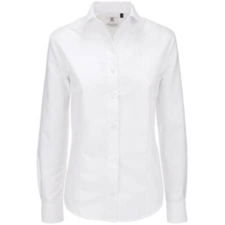 Oxford Shirt Long Sleeve / Women in White von B&C (Artnum: BCSWO03