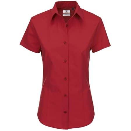 Poplin Shirt Heritage Short Sleeve / Women von B&C (Artnum: BCSWP44