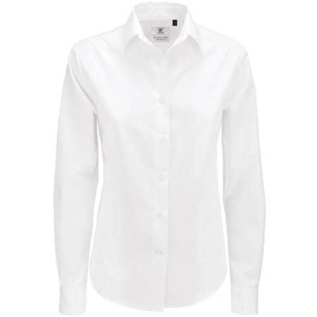 Poplin Shirt Smart Long Sleeve / Women in White von B&C (Artnum: BCSWP63