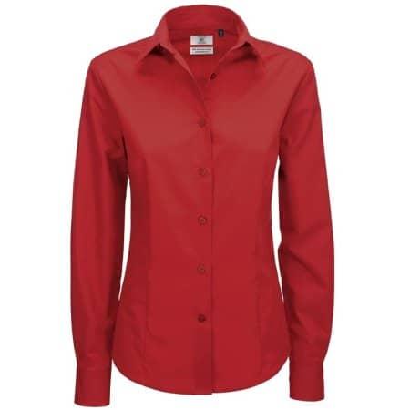 Poplin Shirt Smart Long Sleeve / Women von B&C (Artnum: BCSWP63
