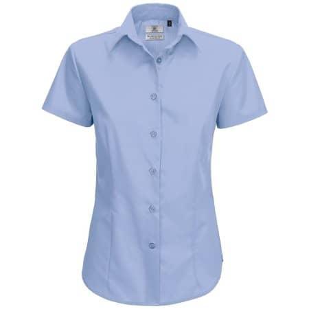 Poplin Shirt Smart Short Sleeve / Women von B&C (Artnum: BCSWP64