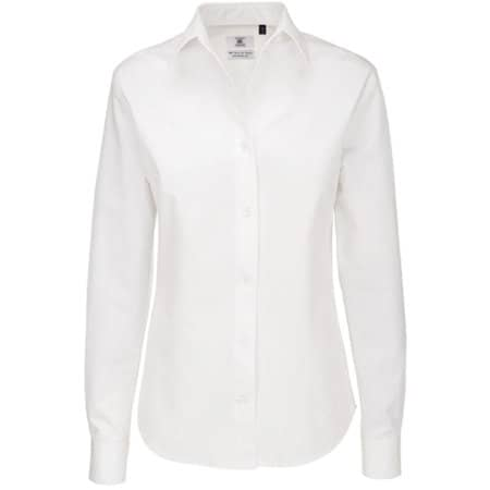 Twill Shirt Sharp Long Sleeve / Women in White von B&C (Artnum: BCSWT83