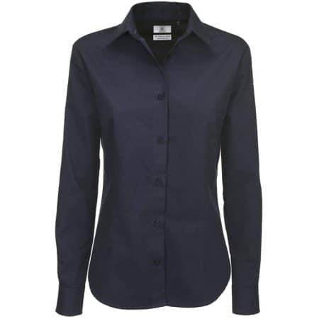 Twill Shirt Sharp Long Sleeve / Women von B&C (Artnum: BCSWT83