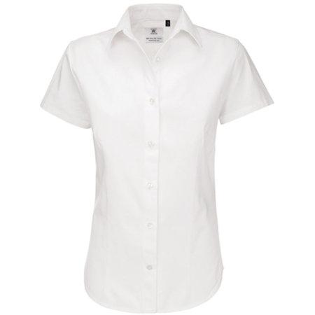 Twill Shirt Sharp Short Sleeve / Women in White von B&C (Artnum: BCSWT84