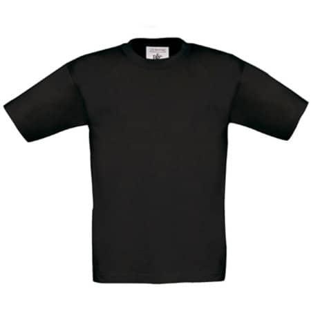 T-Shirt Exact 150 / Kids in Black von B&C (Artnum: BCTK300