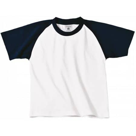T-Shirt Base-Ball / Kids von B&C (Artnum: BCTK350