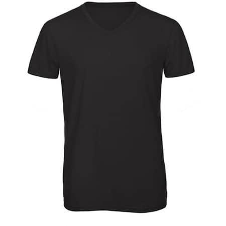 V-Neck Triblend T-Shirt /Men in Black von B&C (Artnum: BCTM057