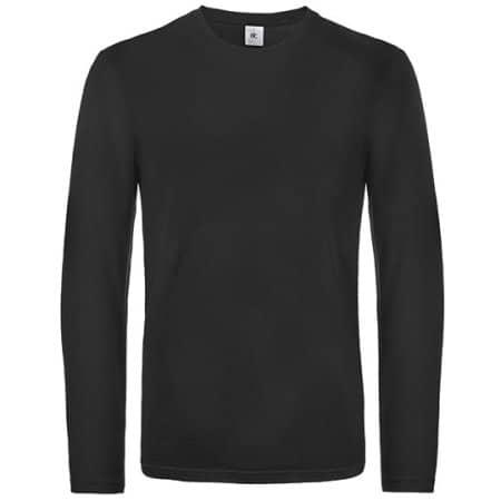 T-Shirt #E190 Long Sleeve / Unisex (Exact) in Black von B&C (Artnum: BCTU07T