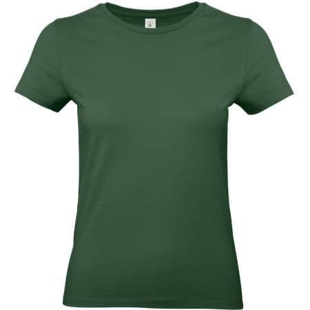 T-Shirt #E190 / Women in Bottle Green von B&C (Artnum: BCTW04T