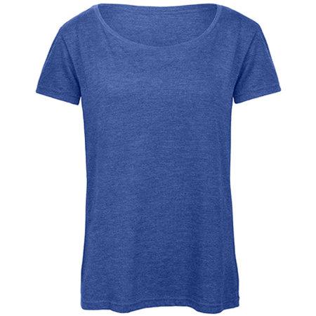 Triblend T-Shirt /Women in Heather Royal Blue von B&C (Artnum: BCTW056
