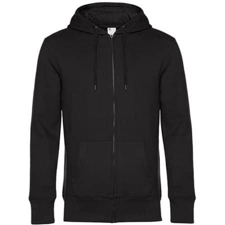 KING Zipped Hood Jacket in Black Pure von B&C (Artnum: BCWU03K