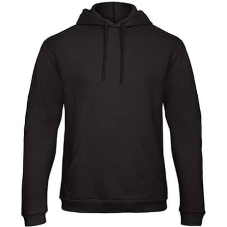 ID203 50/50 Hooded Sweatshirt in Black von B&C (Artnum: BCWUI24