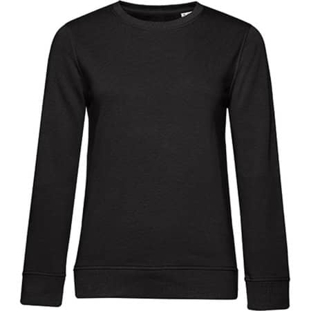 Organic Crew Neck Sweat /Women in Black Pure von B&C (Artnum: BCWW32B